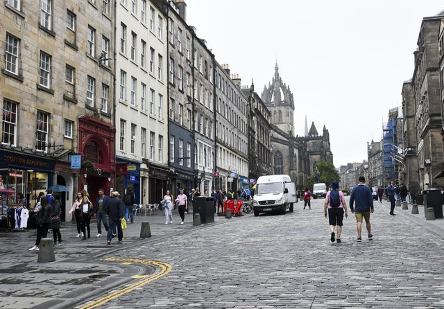Visitors have been slowly returning to the Royal Mile in recent weeks. Picture: Lisa Ferguson