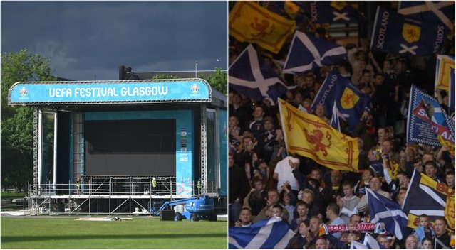 It will be dry and cloudy when Scotland kicks off its Euro 2020 campaign in Glasgow on Monday afternoon.