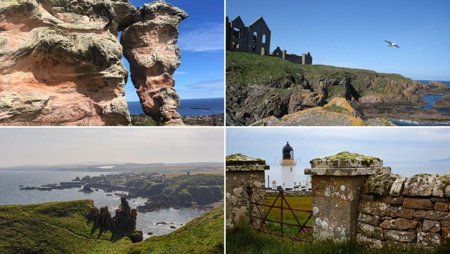 Some of the amazing views you can see on Scotland's coast.