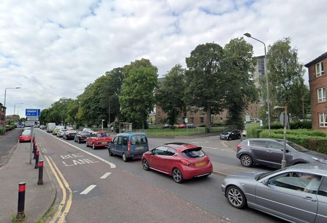 The incident happened at about 8.50pm on Friday at the junction of Dumbarton Road and Redgate Place in Scotstoun.