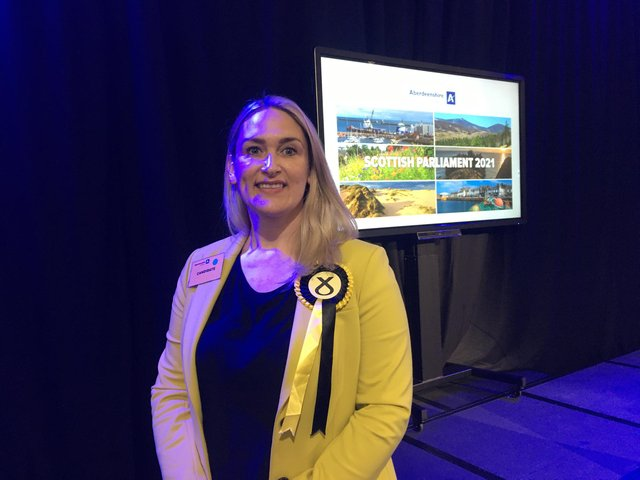 Karen Adam held to Banffshire and Buchan coast for SNP but the nationalist majority was slashed amid a surge in the Tory vote in the North East fishing communities. PIC: Contributed.