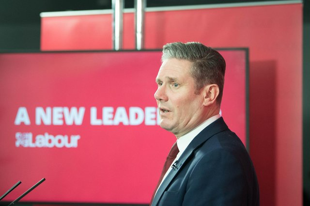 Labour leader Sir Keir Starmer delivers a virtual speech on Monday