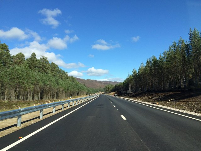 The Kincraig-Dalraddy stretch is the only one of 11 new dualled sections of the A9 to be completed. Picture: Transport Scotland
