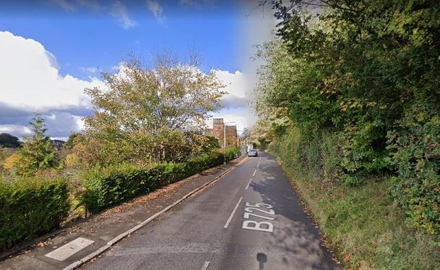 The crash happened on the B725 Dumfries to Glencaple road.