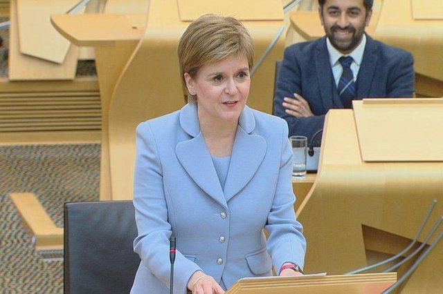 Nicola Sturgeon has been re-elected as First Minister.