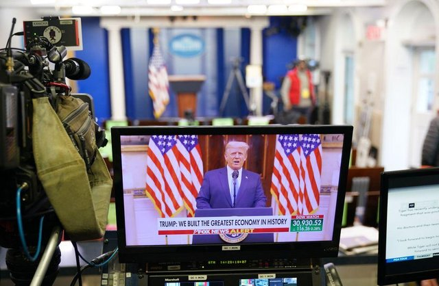 President Donald Trump delivered his farewell address to the nation via a video released on YouTube on 19 January (Photo: MANDEL NGAN / AFP) (Photo by MANDEL NGAN/AFP via Getty Images)