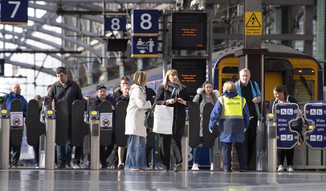 Passengers on four routes from Glasgow Central had faced potential disruption. Picture: SNS Group
