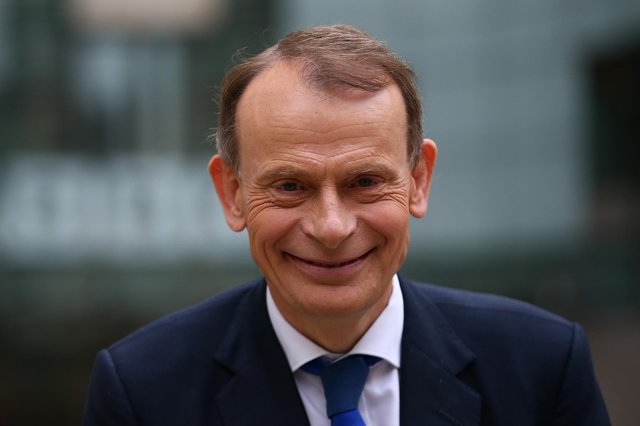Andrew Marr leaves BBC Television Centre after hosting BBC One's The Andrew Marr Show on November 29, 2020 in London, England. (Photo by Hollie Adams/Getty Images)
