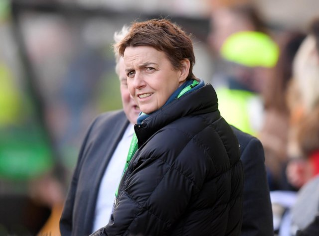 Hibernian Chief Executive, Leeann Dempster, has quit the Easter Road club after six years in the post. (Photo by Gary Hutchison / SNS Group)