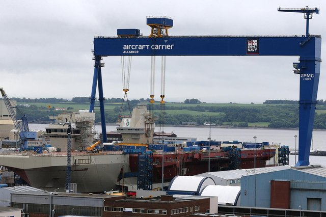 HMS Queen Elizabeth was assembled at Babcock's Rosyth dockyard facility in Fife.