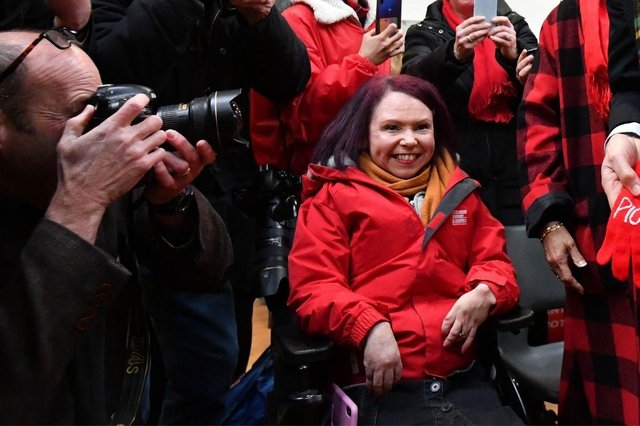 Pam Duncan-Glancy, of Scottish Labour, had to wait outside the building for 45 minutes before being allowed to join the other candidates inside.