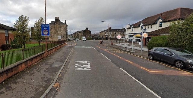 Glasgow Road near to its junction with Castlegreen Street, Dumbarton where the serious assault took place (Photo: Google Maps).