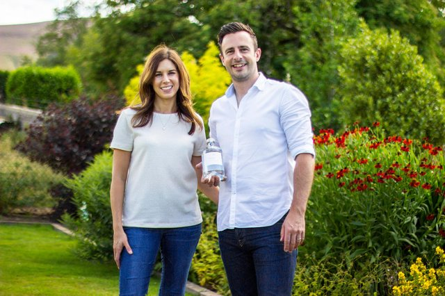 Aberdeenshire-based husband-and-wife team Nick and Emma Smalley, who created The Teasmith Gin in 2016. Picture: contributed.