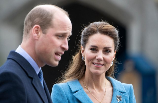 The Earl and Countess of Strathearn attend a Beating of the Retreat at the Palace of Holyroodhouse on during their visit to Scotland last week
