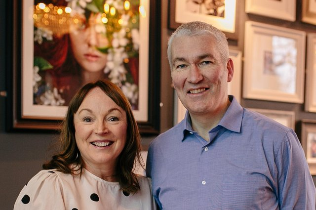 Michelle Brown and Colin Leslie, fundraising manager at Support in Mind Scotland, taken in January 2020 to celebrate the Love Your Business and Support in Mind Scotland charity partnership. Picture: Andrea Thomson Photography