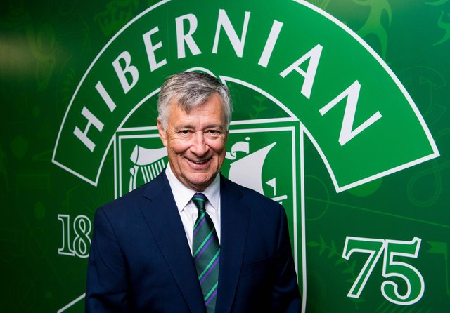 Hibs owner Ron Gordon has big plans for the club as he looks to build on this term's achievments and deliver consistently successful seasons. Photo by Ross Parker/SNS Group