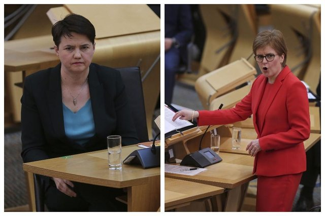 Nicola Sturgeon and Ruth Davidson went to head to head during First Minister's Questions