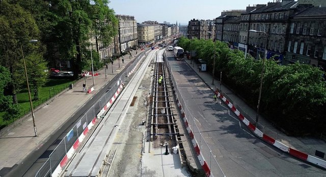work is forging ahead on the trams to Newhaven extension