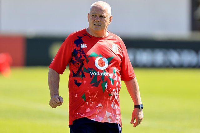 Lions head coach Warren Gatland oversees a training session in Jersey. Picture: David Rogers/Getty Images