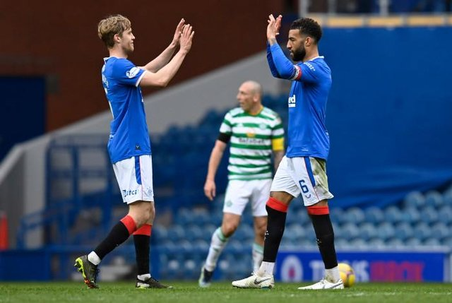 Filip Helander and Connor Goldson, pictured celebrating after the Scottish Cup victory over Celtic at Ibrox in April, were the most regularly deployed central defensive combination for Rangers last season. (Photo by Rob Casey / SNS Group)