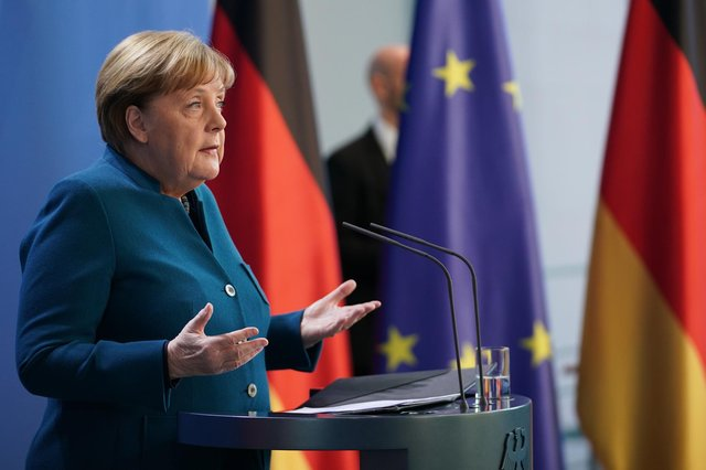 Image result for German chancellor goes into self-quarantine