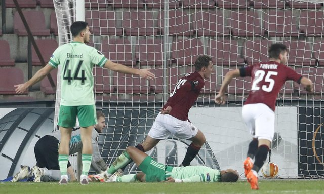 Lukas Julis celebrates scoring his side's second goal of the game. Picture: AP