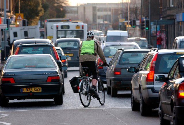Edinburgh has the highest number of cycle casualties in Scotland. Picture: Ian Rutherford