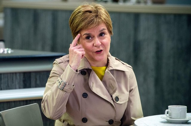 First Minister Nicola Sturgeon on the campaign trail this week (Picture: Getty)