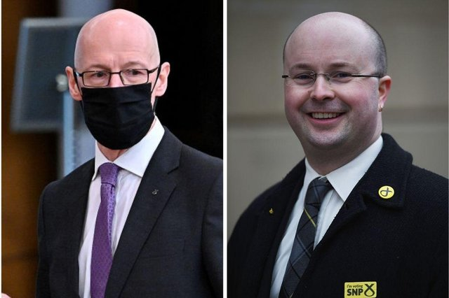 John Swinney has insisted that he first learned of allegations of sexual harassment against Patrick Grady when they emerged in the media.