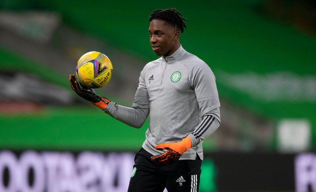 Young Celtic goalkeeper Tobi Oluwayemi. Picture: SNS