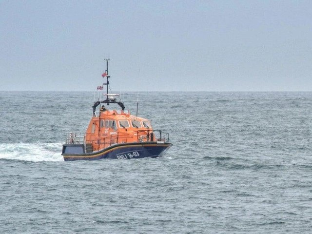 A rescue operation was launched after a vessel began taking on water in the North Sea.
