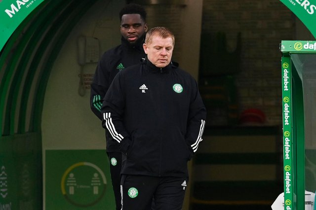 Celtic manager Neil Lennon prior to kick-off. Picture: SNS