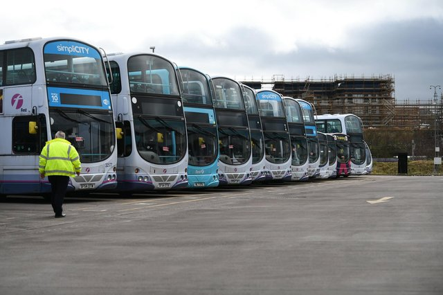 The main bus union wants all workers in the sector tested. Picture: John Devlin.