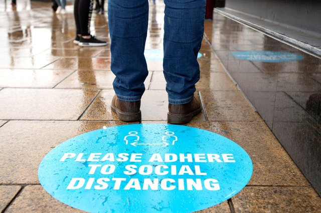 Many firms are still having to adjust their operations due to the pandemic. Picture: Lesley Martin/AFP via Getty Images.