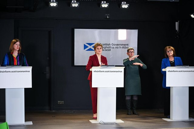 BBC Scotland has confirmed plans to allow the opposition parties to contribute to some of its daily coronavirus briefings in the run up to the election in May. (Photo by Jeff J Mitchell/Getty Images)