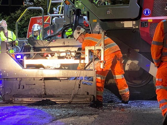 Construction of the UK Department for Transport's first highway made from plastic waste has begun in Carlisle
