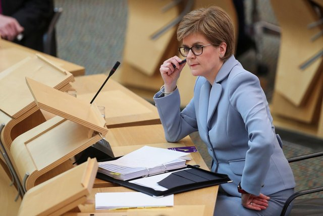 First Minister Nicola Sturgeon during First Minister's Questions.