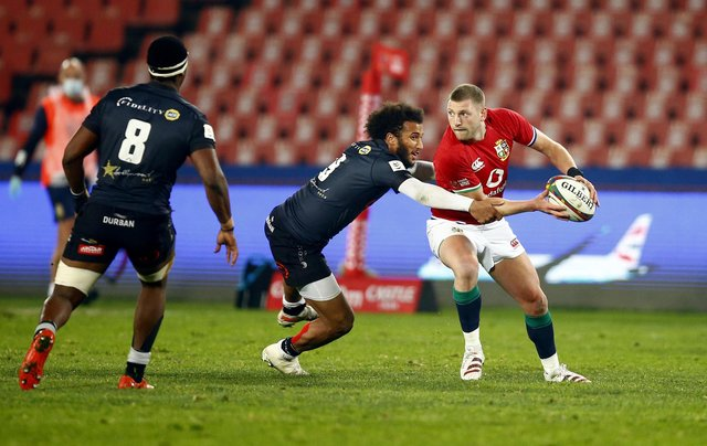 Finn Russell is nursing an Achilles injury. Picture: Steve Haag/PA Wire