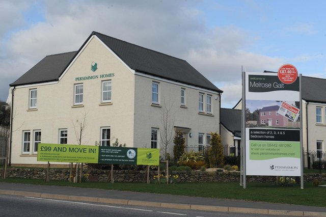 Persimmon is one of the biggest housebuilders in the UK with a string of completed projects and development schemes in Scotland. Picture: Kimberley Powell
