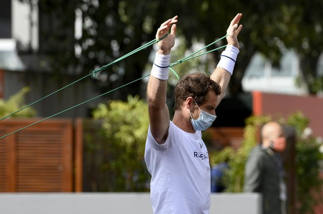 """""""Maintaining your upper body strength is something else you can do from home,"""" says Andy Murray."""
