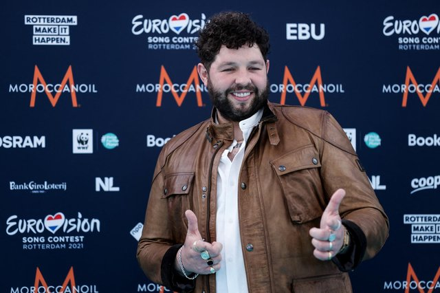 """Singer-songwriter James Newman has said he is """"excited and honoured"""" to represent the UK in the 2021 Eurovision Song Contest (Photo by KENZO TRIBOUILLARD/AFP via Getty Images)"""