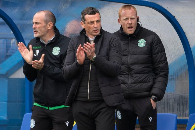 Hibs boss Jack Ross could only applaud Hibs' attacking play.