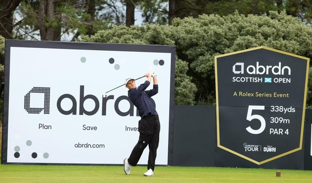 Will Zalatoris during a practice round for the abrdn Scottish Open at The Renaissance Club in East Lothian. Picture: Andrew Redington/Getty Images.