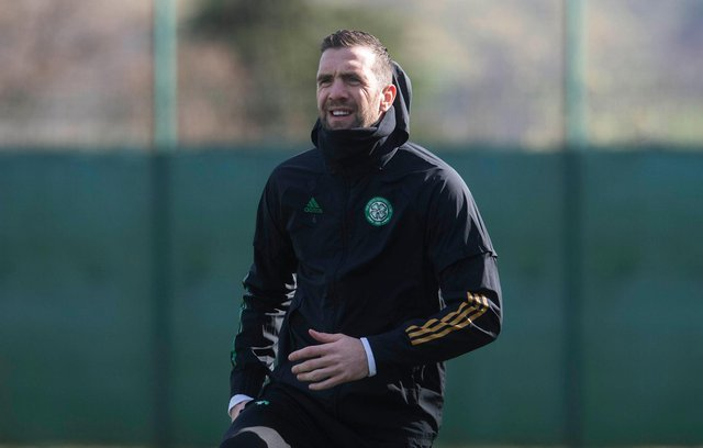 Shane Duffy during Celtic training earlier this month. Picture: SNS