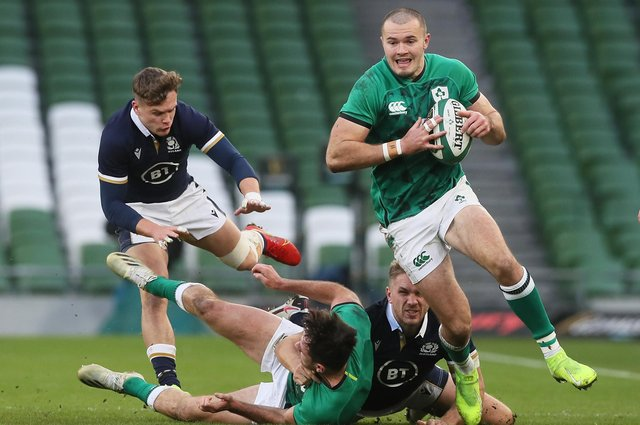 Jacob Stockdale won his last Ireland cap in the Autumn Nations Cup win over Scotland in Dublin last December.