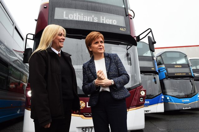 Should Nicola Sturgeon let people know if they can use buses? (Picture: Andy Buchanan/Getty)