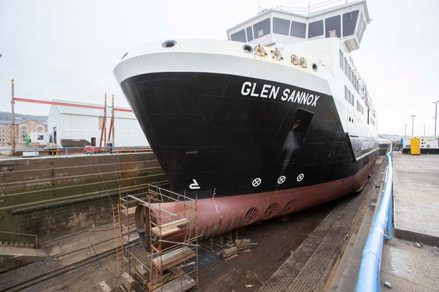The Glen Sannox ferry is not now due to be completed until at least April 2022. Picture: Mark Gibson.