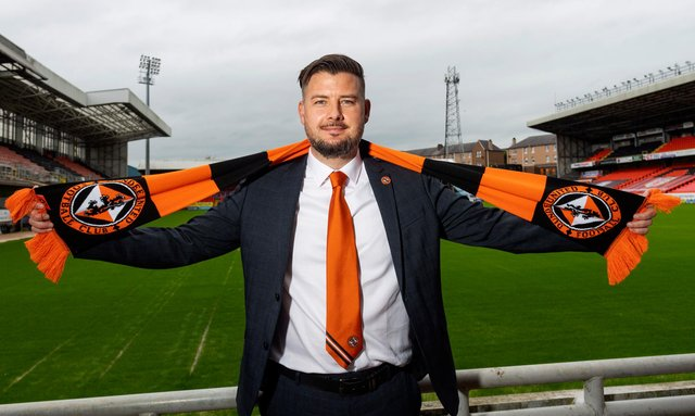 Tam Courts unveiled as Dundee United's new head coach.