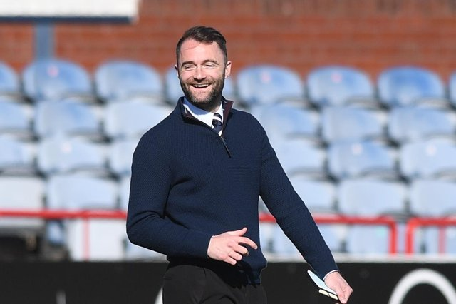Dundee manager James McPake after the 2-1 win over Raith Rivers that keep his side in the hunt for second place in the Championship  (Photo by Mark Scates / SNS Group)