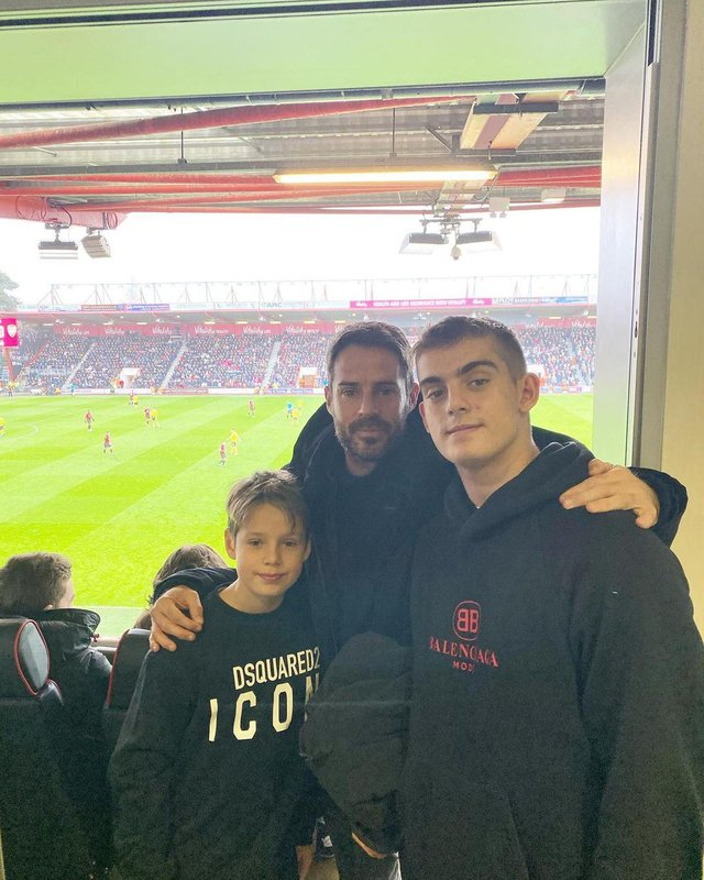 Undated Handout Photo of Jamie Redknapp with his older son Charley and younger son Beau. See PA Feature FAMILY Redknapp. Picture credit should read: Jamie Redknapp/PA. WARNING: This picture must only be used to accompany PA Feature FAMILY Redknapp.